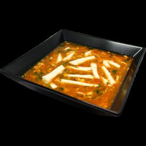 Tomatu zupa ar vistu